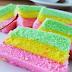 Resep Terbaru Cara Membuat Bolu Kukus Rainbow