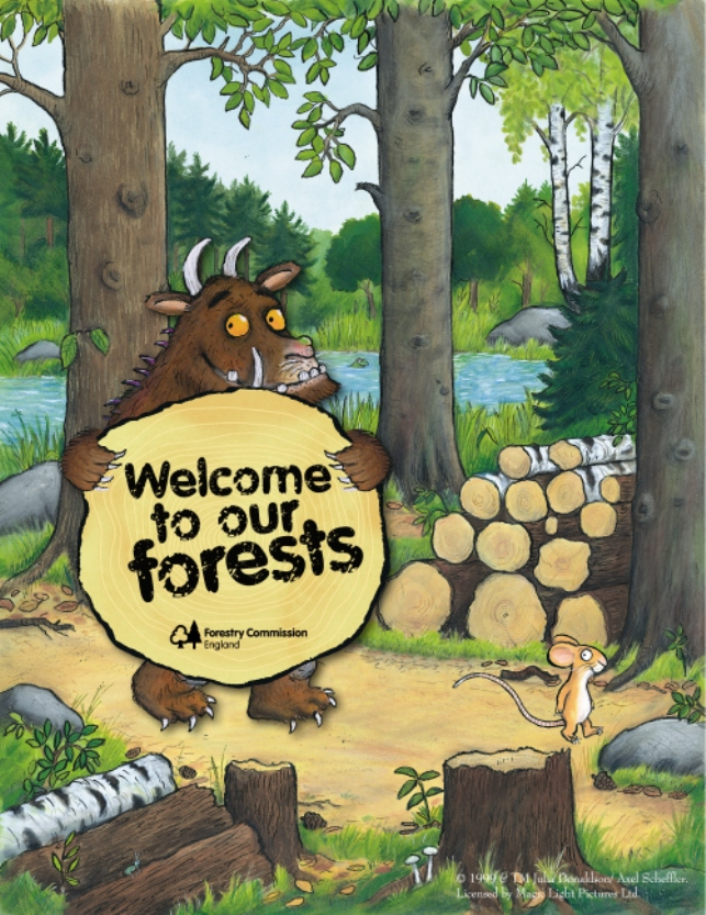 Forestry Commission Gruffalo Trail #WeLoveForests Julia Donaldson