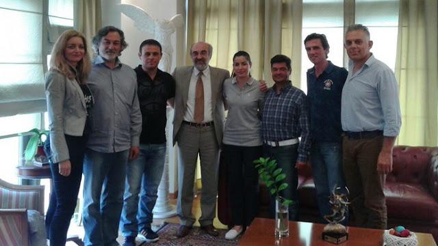 Εθιμοτυπική επίσκεψη του Δ.Σ. της Ε.ΠΟ.Φ.Ε. στον Δήμαρχο Αλεξανδρούπολης