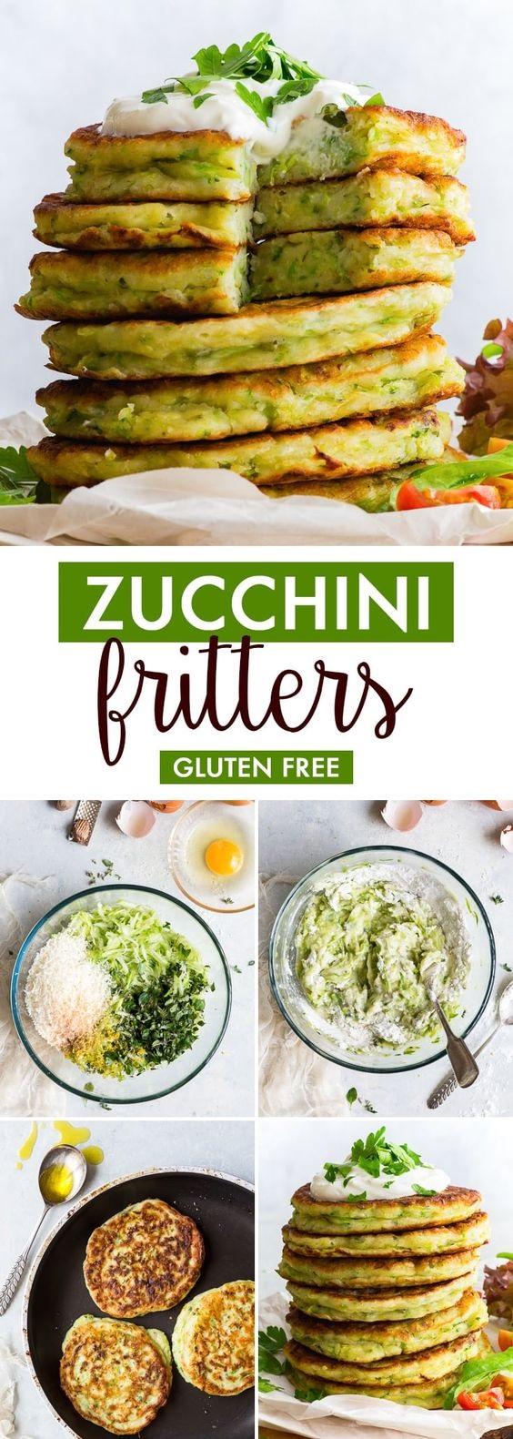 Zucchini Fritters (Gluten Free, Dairy Free Option)