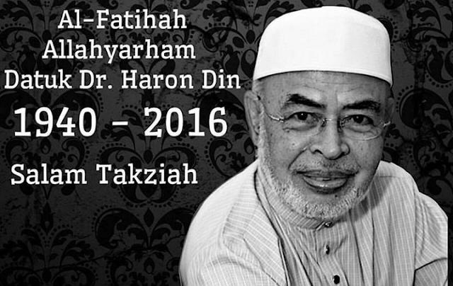 Guru Dato' Dr Harun Din telah kembali ke rahmatillah di Hospital Stanford University US