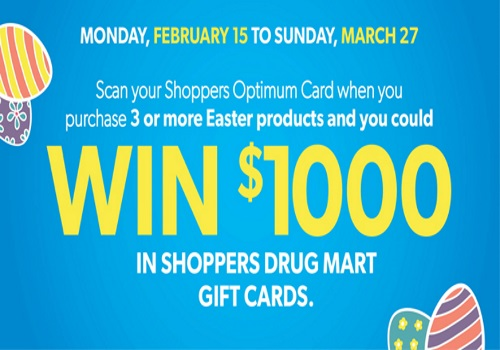 Shoppers Drug Mart Easter Contest Win $1000 Gift Card