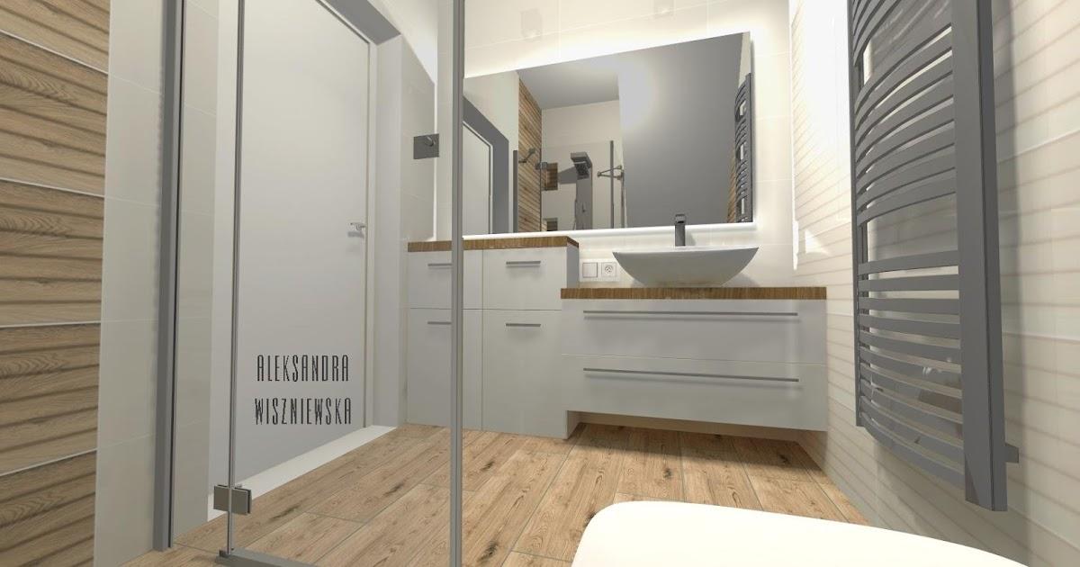 Projekty łazienek, wizualizacje: Tubądzin Royal Palace - ŁAZIENKA POD SCHODAMI