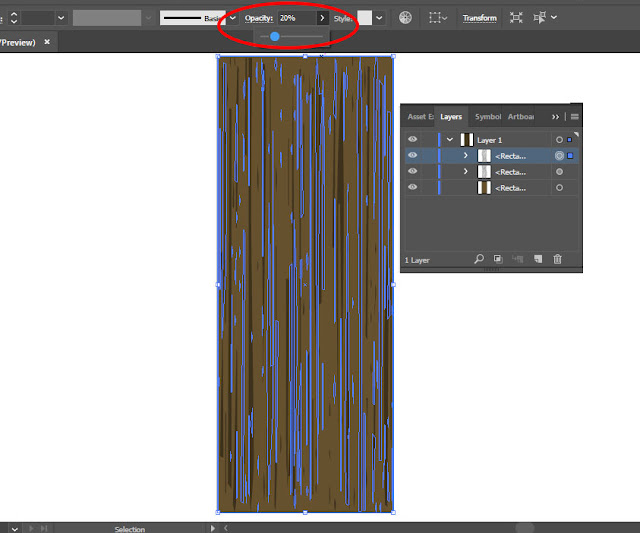 Cara membuat tekstur kayu dengan adobe illustrator