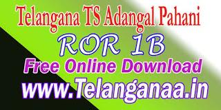 Telangana TS Land Records ROR Download at mabhoomi telangana gov