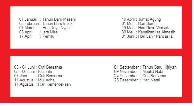 Setiap Tahun pasti ada Tanggal merah pada setiap bulan nya Daftar Tanggal Merah Tahun 2020 Wajib kamu ketahui Jadwal Libur Nasional