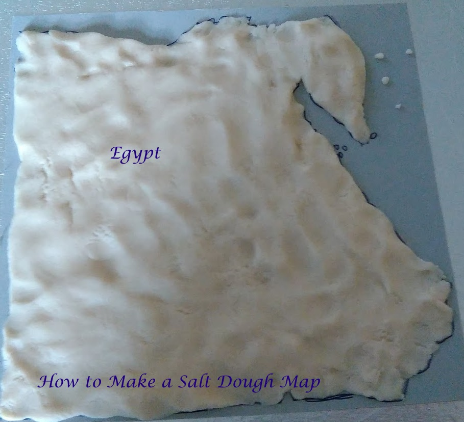 Tales of Education at Home: Making a Salt Dough Map