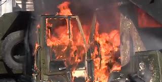 "Пожар на товарен камион ""Камаз"""