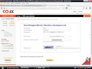 Cara Mendaftar Domain Gratis di CO.CC