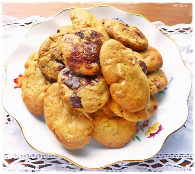 plate of homemade cookies