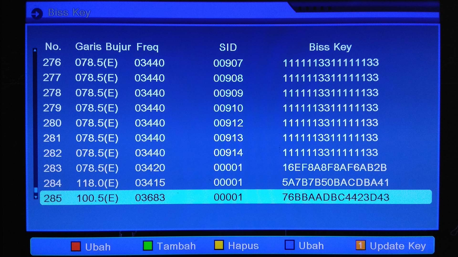 Auto Biss Key Software Receiver Parabola ALI3510C