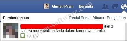 Notifikasi Scam BBM For Facebook