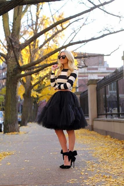 look falda de tul negra