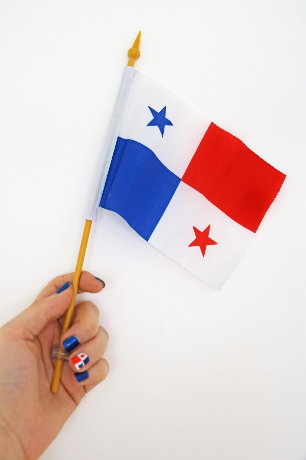 Panama flag nails