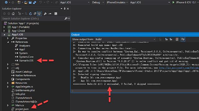 Build iOS with NuGet v3