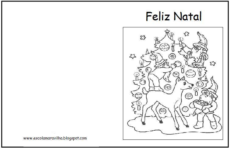 Pedagogiccos Cartao De Natal Para Pintar