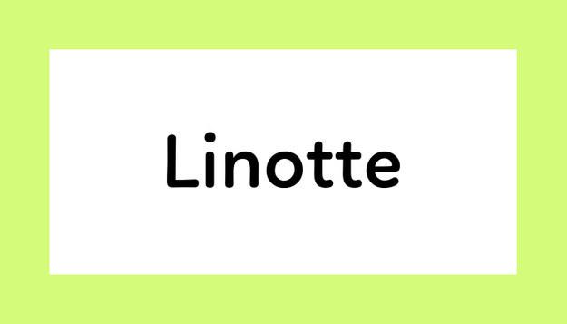 Font Linotte Download