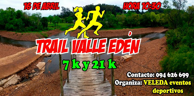 21k y 7k Trail en Valle Edén (Tacuarembó, 16/abr/2017)