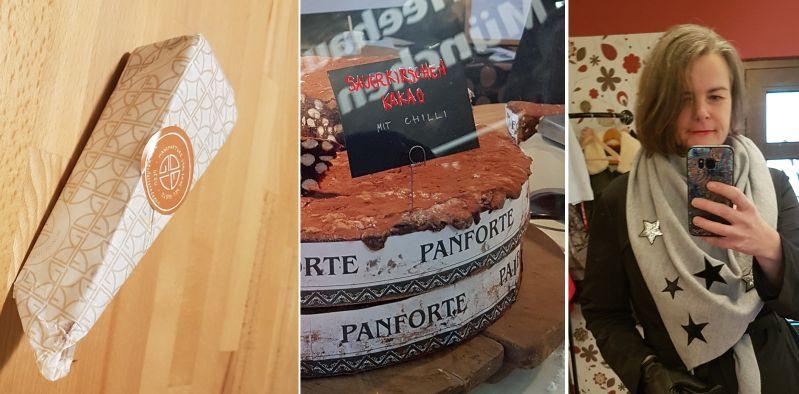 Florentinische Schokotorte mit Nüssen, Sauerkirschen und Chilli