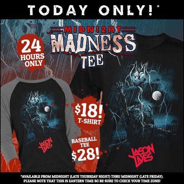 Fright-Rags Unveils 24-Hour Madness 'Jason Lives' T-Shirt!