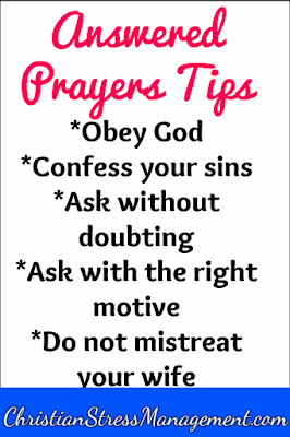Tips for answered prayers