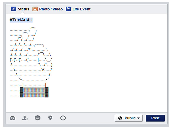 Okay Sign Facebook | ASCII Status Copy Paste Code | Cool