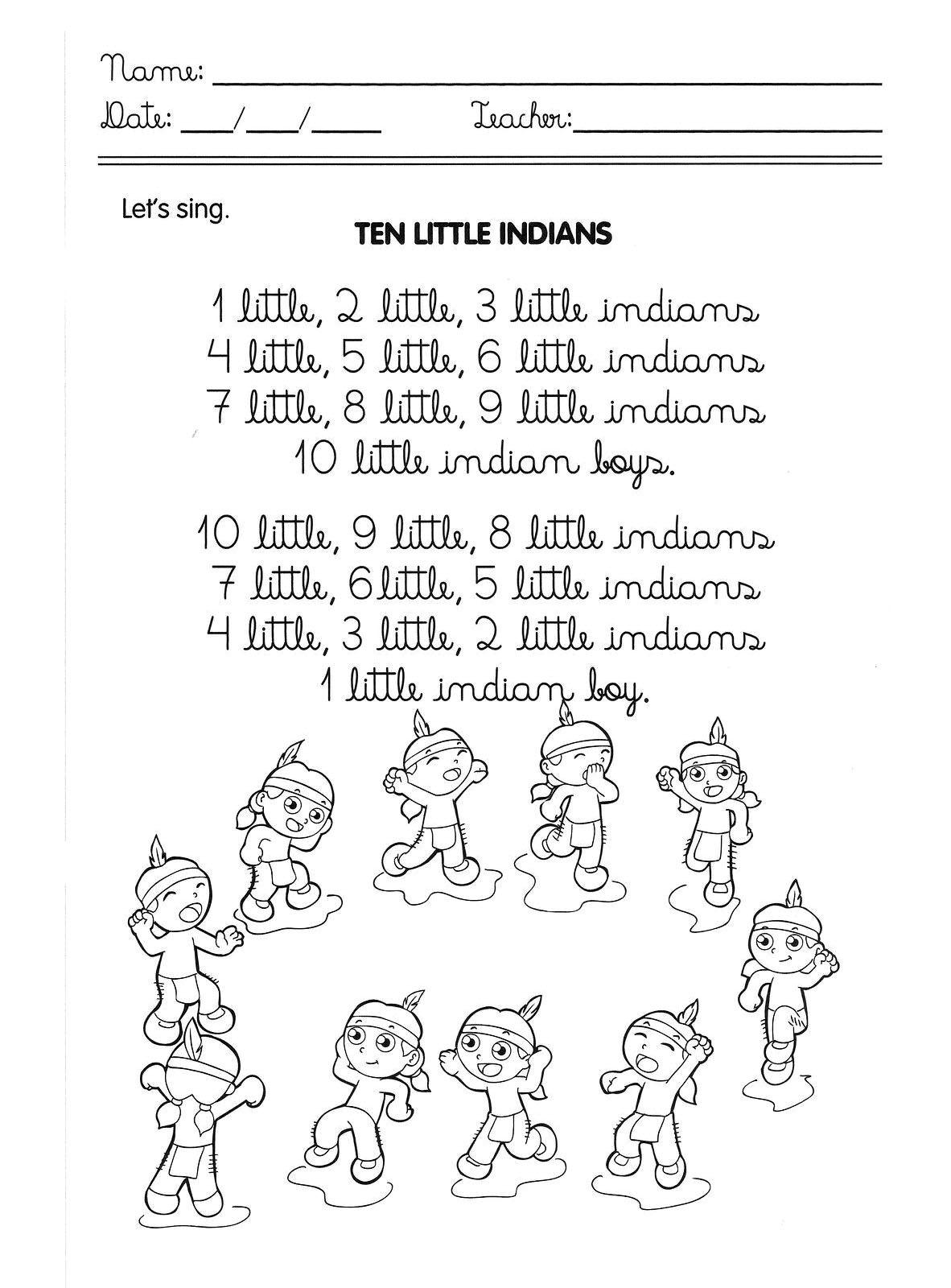 Musicas Em Ingles Para Educacao Infantil Desenhos Para Colorir