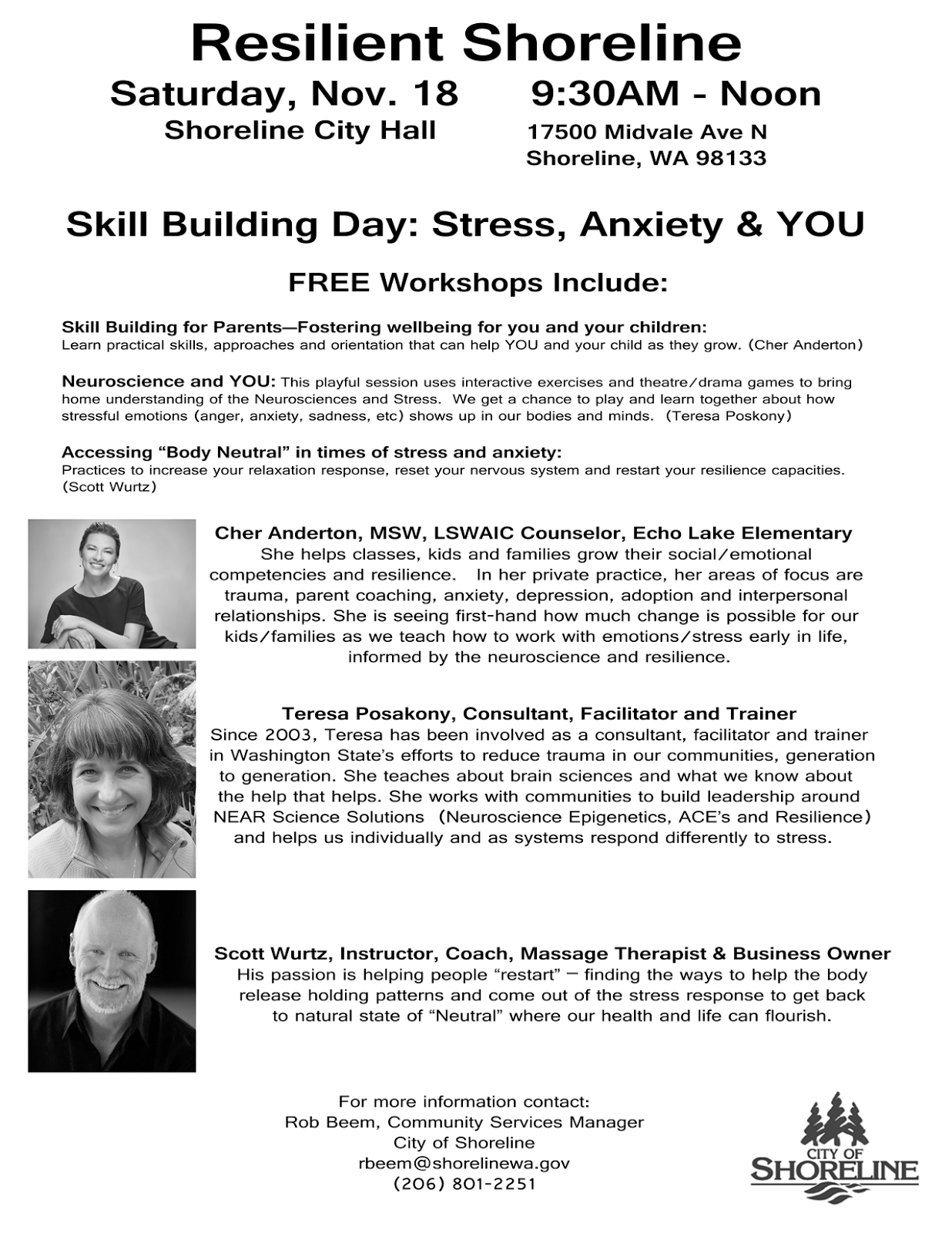 Washington state government for kids - Resilient Shoreline Free Workshops To Help Youth Build Skills Against Stress And Anxiety