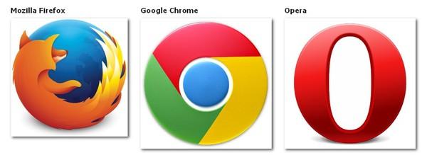 Mozilla Firefox, Google Chrome Dan Opera