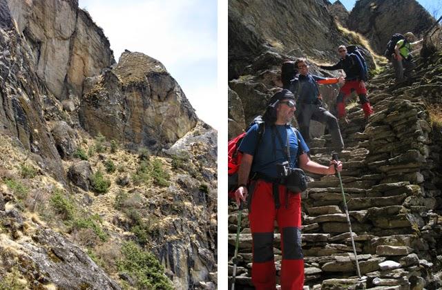 Escaleras en el camino a Namche vía Khumjung