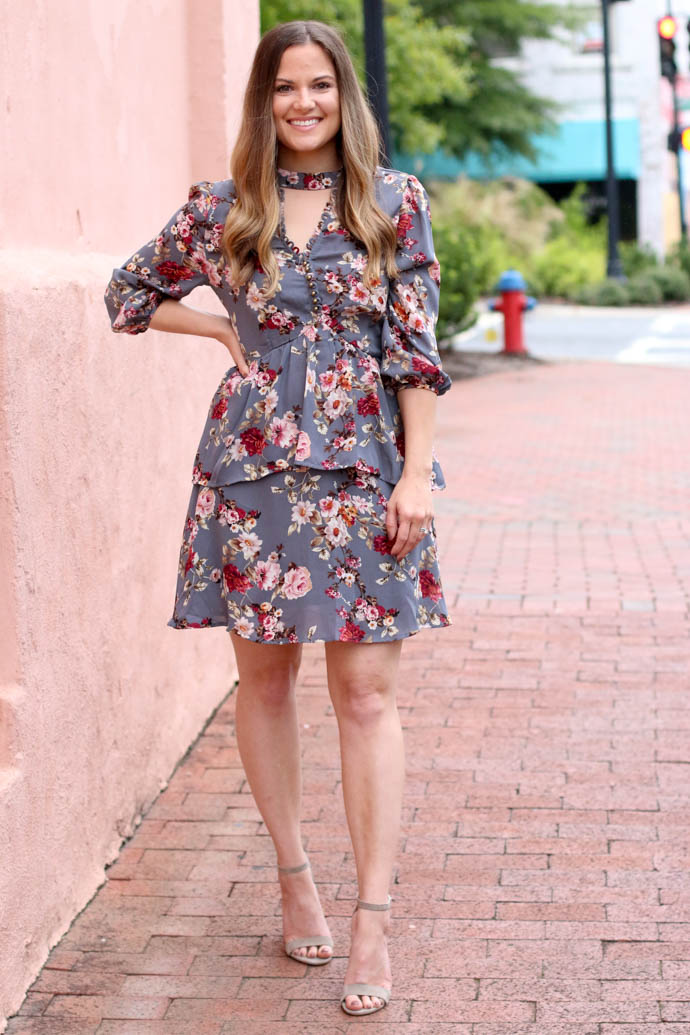fall floral dress, girl(ish), the girlish blog, amanda sumner, fall outfit 2017, fall fashion 2017