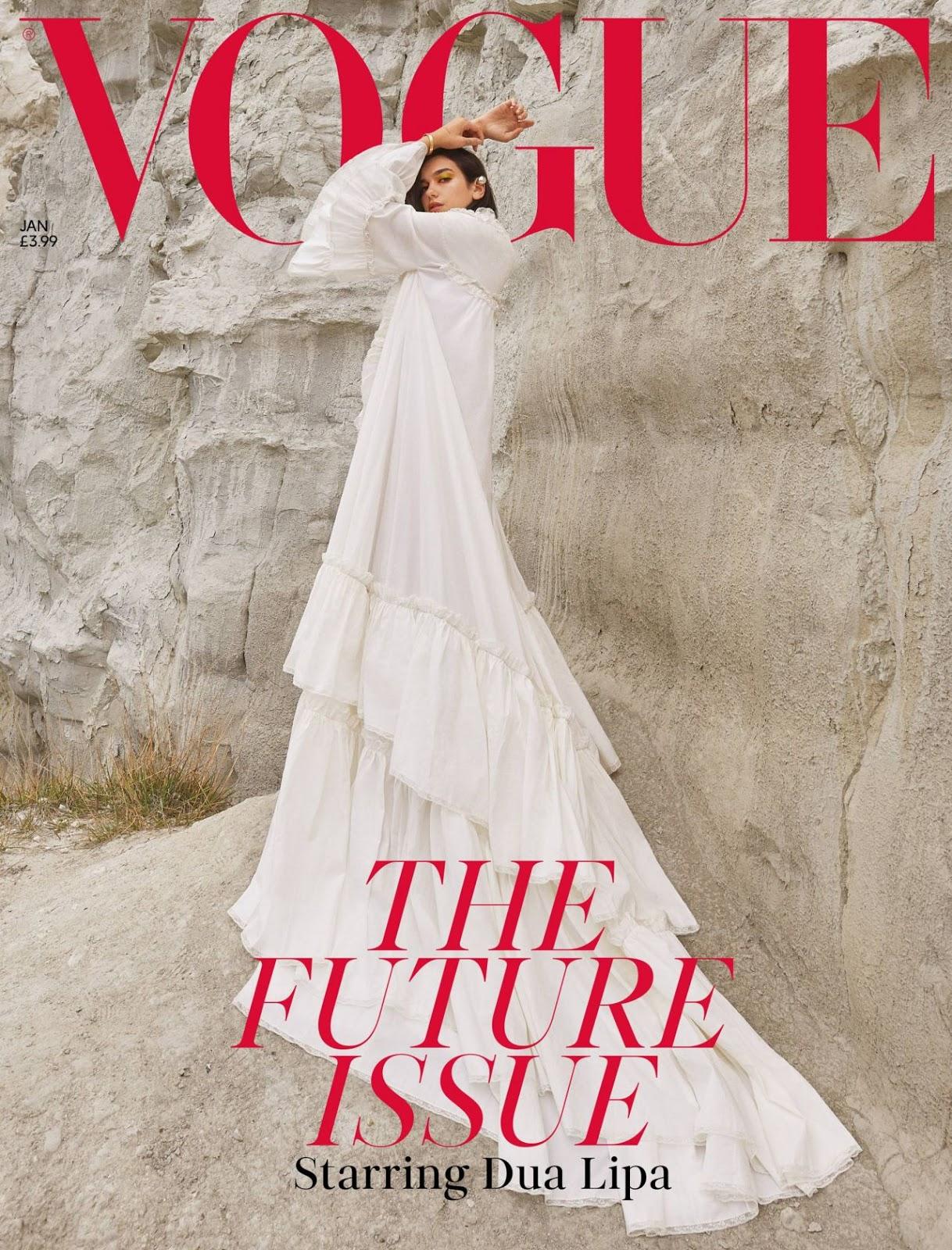 Dua Lipa – Photoshoot for British Vogue 2019