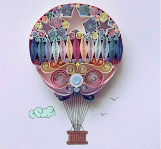 paper quilling hot air balloon