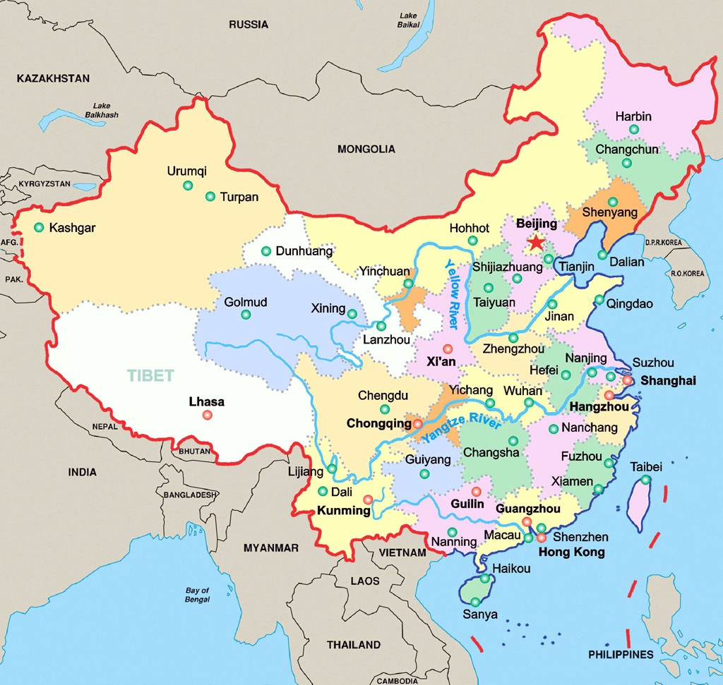 اين تقع الصين في خريطة العالم Kharita Blog