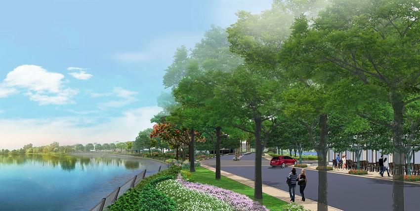 Hồ cảnh quan dự án Hội An Green Village