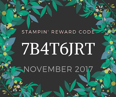 Stampin' Reward Code for Mitosu Crafts UK Online Shop