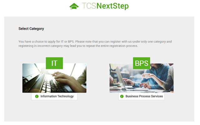 TCS Nextstep Registration