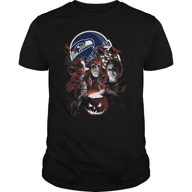 Seattle Seahawks Halloween Scream Team Shirt