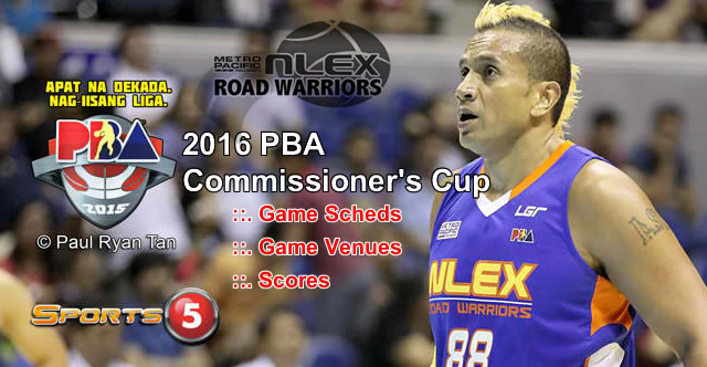List of NLEX Road Warriors Games Elimination Round 2016 PBA Commissioner's Cup