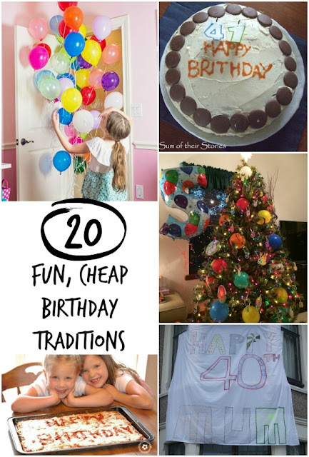 fun, easy cheap ways to make birthdays special