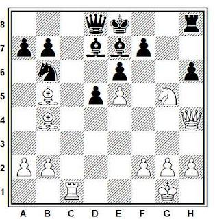 Posición de la partida de ajedrez Korchnoi - Udovcic (Leningrado, 1967)