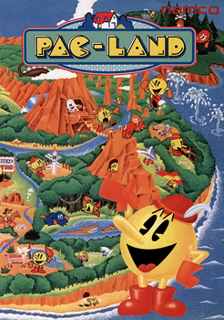 Pac-Land+arcade+game+portable+art+flyer