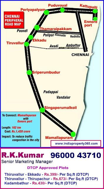 Chennai Peripheral Road map