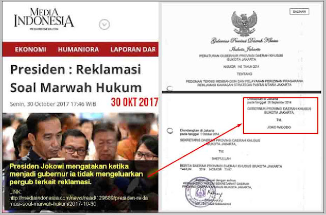 Jokowi Sebut tak pernah terbitkan Pergub Reklamasi?, Elisa Sodorkan Bukti Pergub 2014