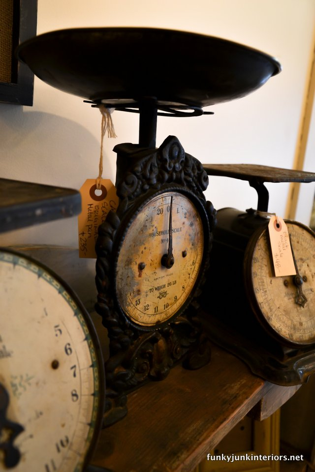 Vintage_black_kitchen_scales_during_A_tour_through_Franklin,_Tennessee _via_Funky_Junk_Interiors