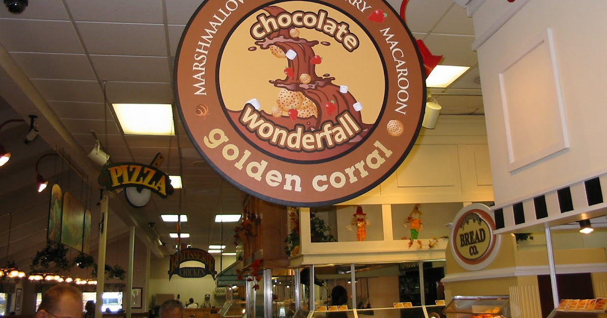 the chocolate cult chocolate fountain at golden corral