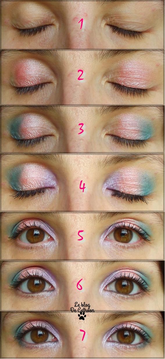 Maquillage des yeux avec palette à 1€