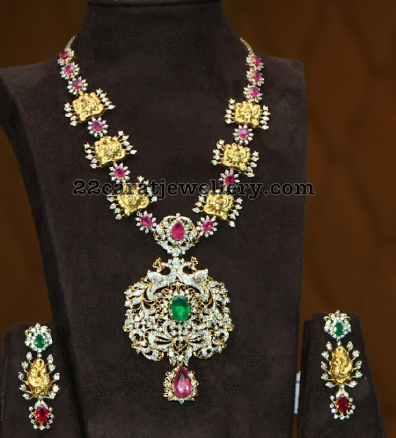 Nakshi Necklace with Ruby Locket