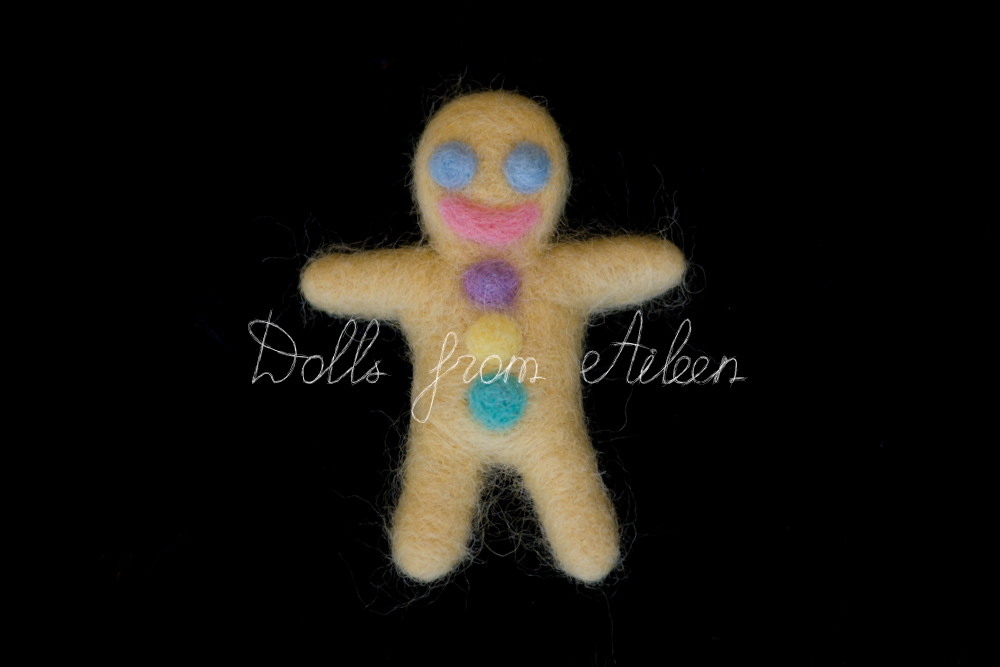 OOAK needle felted gingerbread man