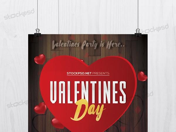 Download Valentine's Day PSD Flyer Free